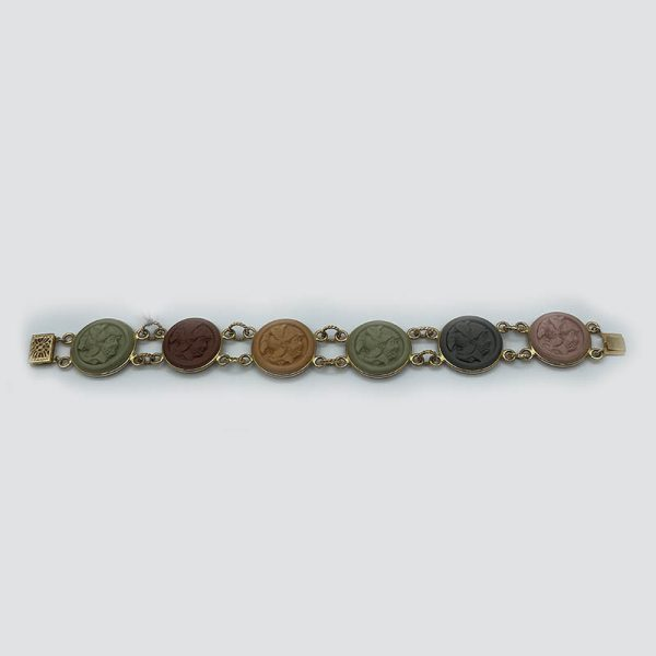 14k gold lava bracelet-warrior