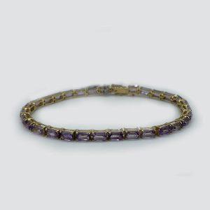14kt gold-amethyst-bracelet