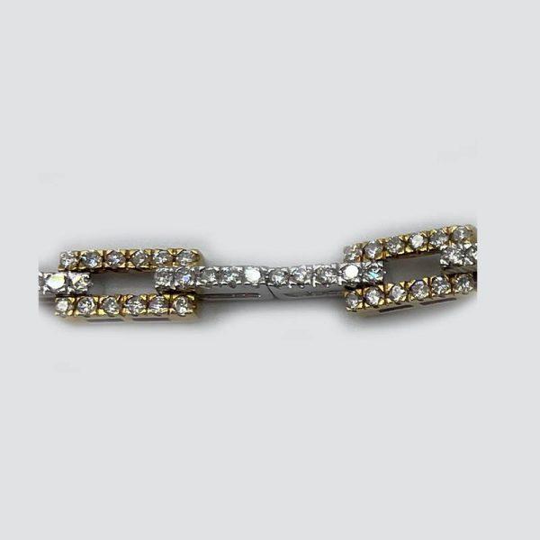Alternating Square Diamond Bracelet