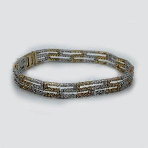Back-to-Back-S-Pattern-with diamond-bracelet
