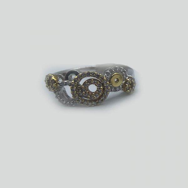 Circles of Pave Diamonds Ring