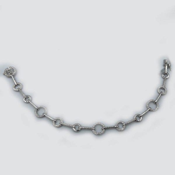 Linking Rings Bracelet with Diamonds
