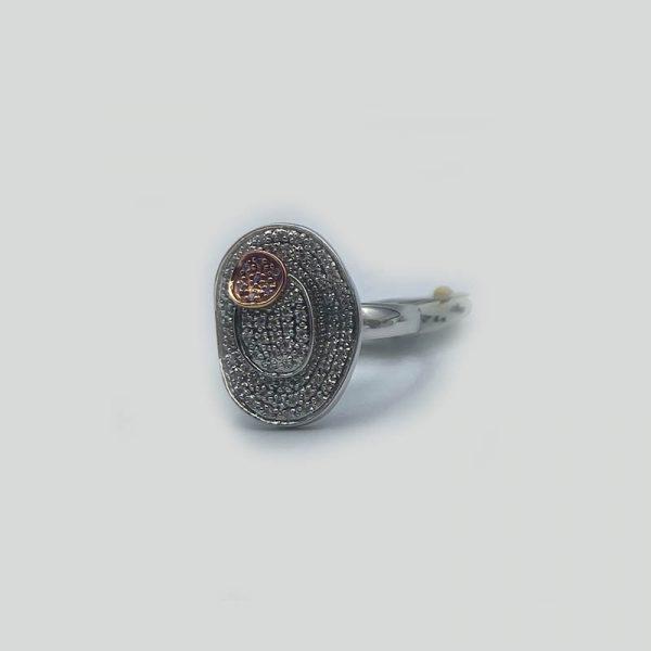Micro Pave Two Tone Diamond Ring