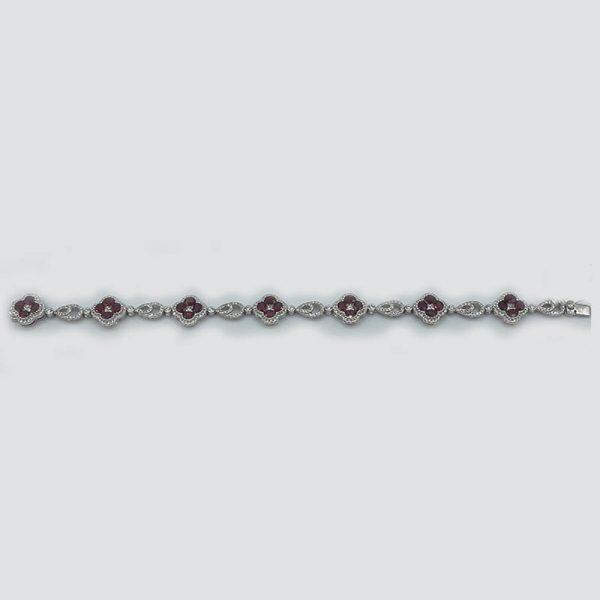 Ruby-Flower-Bracelet-with-Diamonds