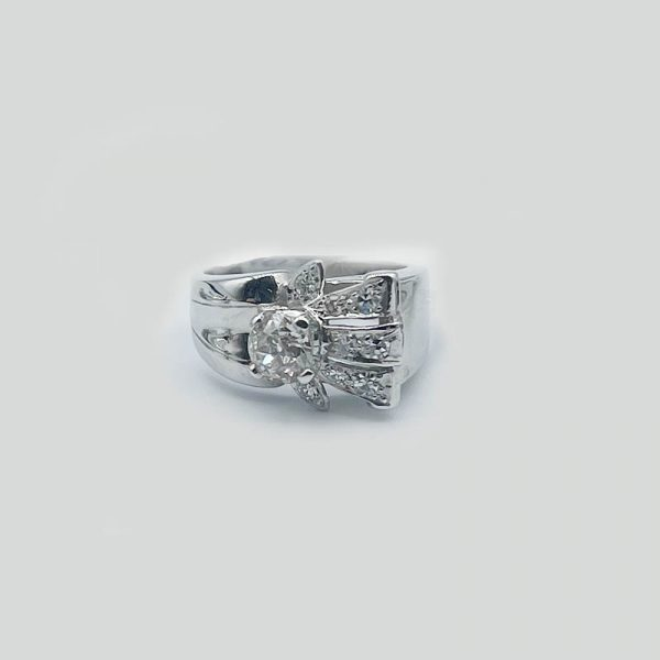 Vintage 14k white gold ring, circa 1940's
