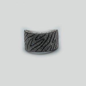 Zig Zag Diamond Pattern Ring