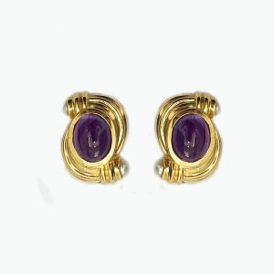 14k gold Amethyst Earrings with Pearls