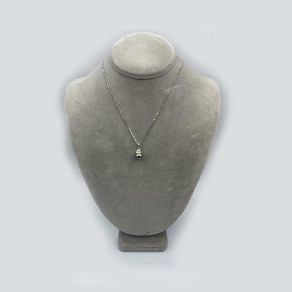 Black Pearl White Gold Pendant