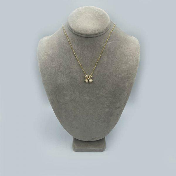 Diamond 4-leaf clover pendant