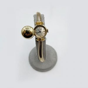 Dome Top Bracelet Watch Gold 1950's