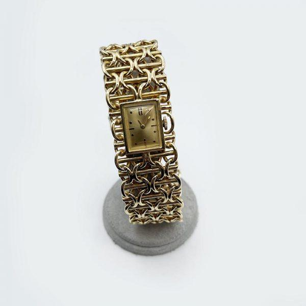 Gold Link Bracelet Watch, Vintage by Moviga