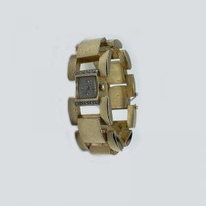 Large link bracelet watch 14K Gold Retro 1950's