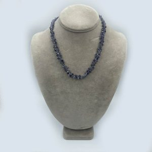 Lolite Necklace with Blue Shaded Colors