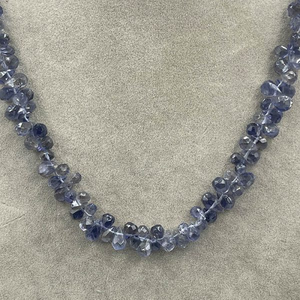 Lolite Necklace with Blue Shaded Colors2