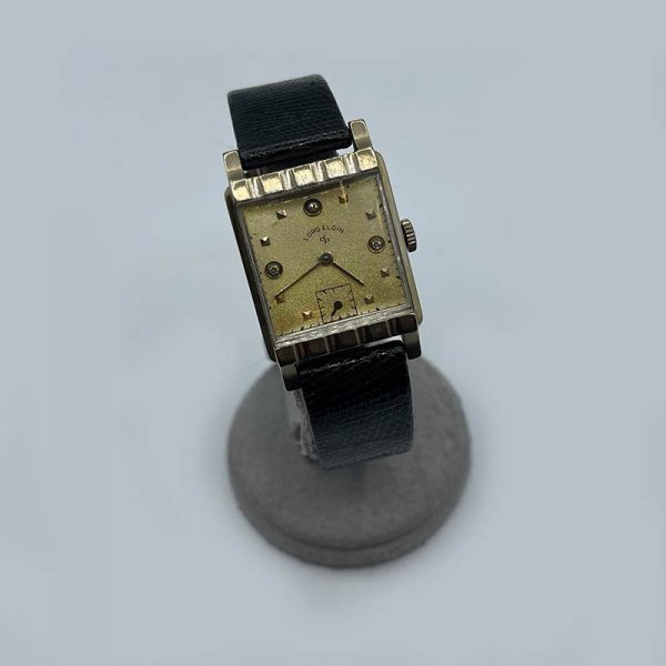 Lord Elgin vintage men's watch with Diamond Markers