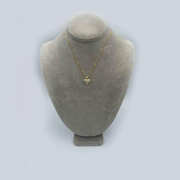 Puffed Diamond Heart necklace