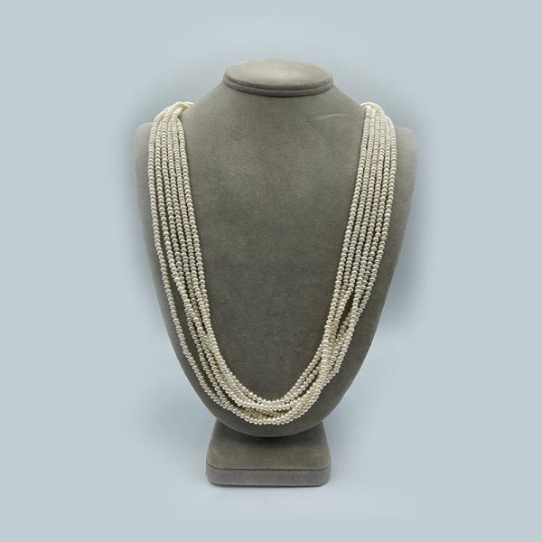 Six strand pearl necklace freshwater pearls