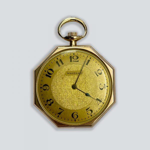 Waltham Octagon-shaped Men's Pocket Watch 1930's