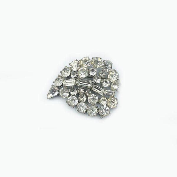 Curved Leaf Vintage Pin or Brooch