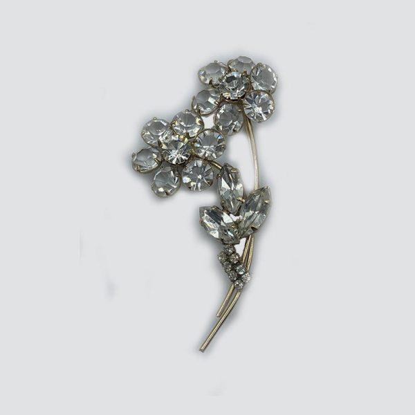 Double Flower Vintage Brooch