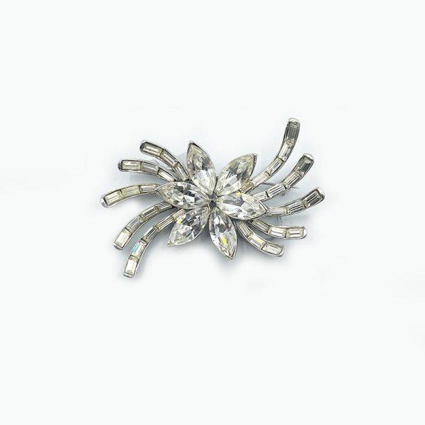 Flower Spider Brooch Pin