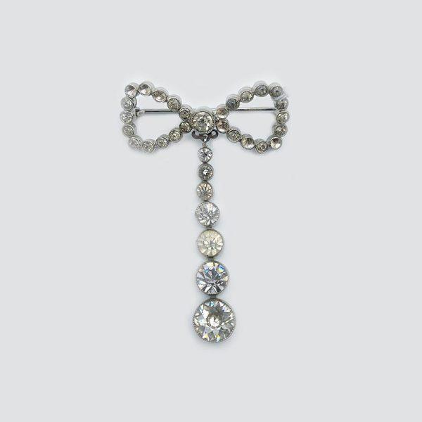 Hanging Ribbon Vintage Pin or Brooch