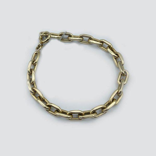 14k gold elongated link bracelet