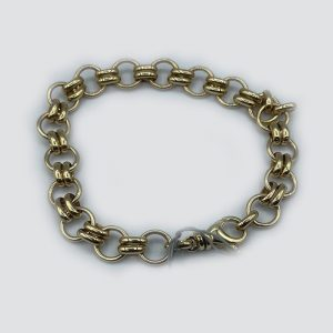 14k gold handmade chain bracelet