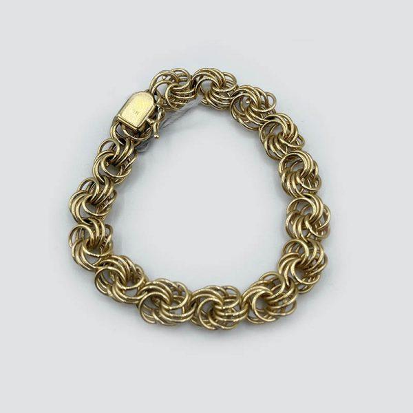 14k gold knotted links bracelet