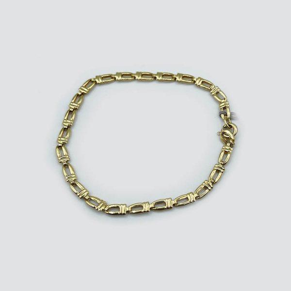 18k gold thick chain bracelet