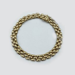 14kt Gold Intertwined Link Thick Bracelet