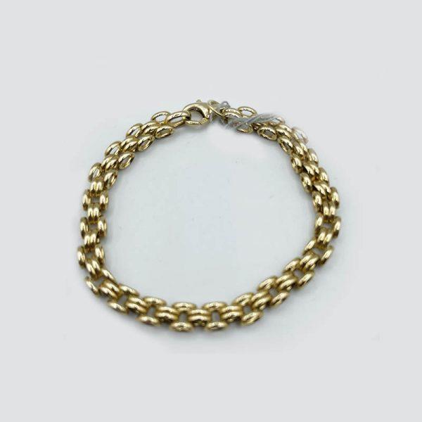 14kt Yellow Gold Handmade Gatelink Bracelet