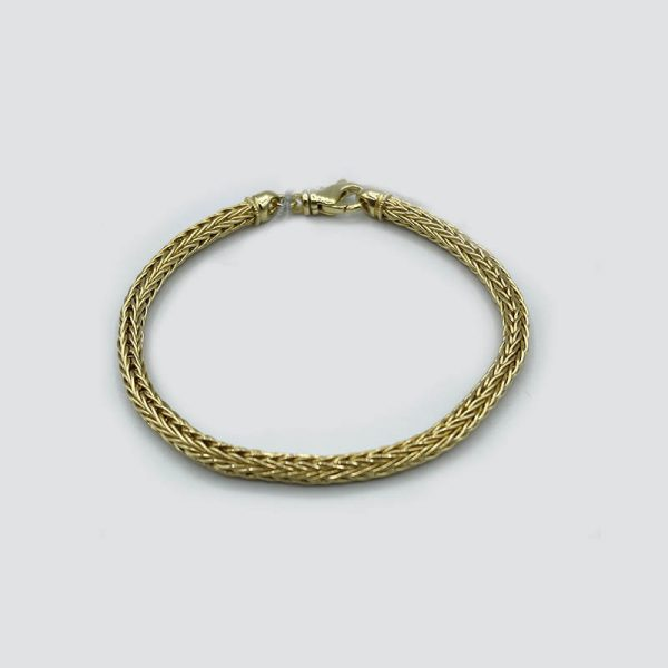14kt Yellow Gold Rope Bracelet
