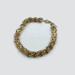 14kt Yellow Gold Rounded Interlocking Link Bracelet