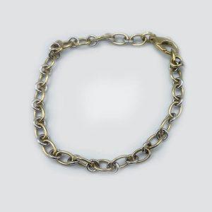 14kt Yellow and White Gold Alternating links Bracelet