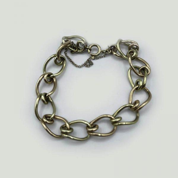 12kt Gold Two Tone Link Bracelet