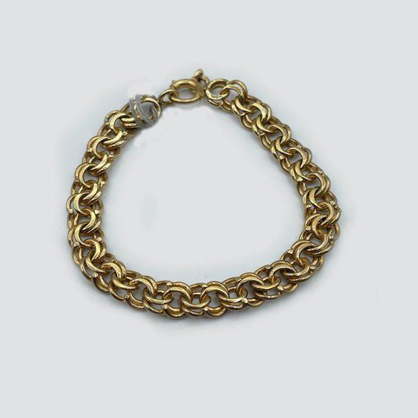 14kt Gold Charm Link Bracelet