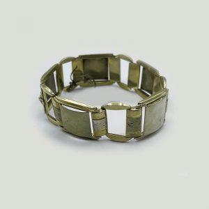 14kt Gold Two Tone Mid Century Links Bracelet