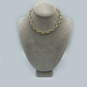 14kt Two Toned Chain Link Necklace