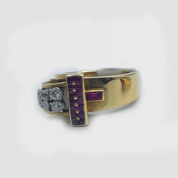 18kt Gold Ruby and Diamond Ring