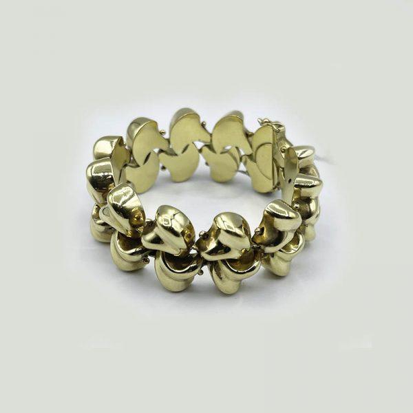 18kt Gold Thick Braided Bracelet