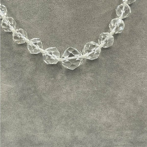 Antique Crystal Necklace Circa 1900s