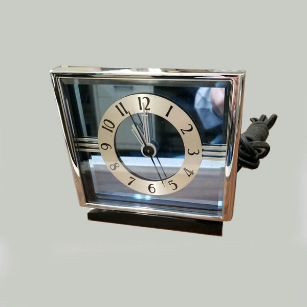 Hammond Empress Clock with Blue Mirror-front