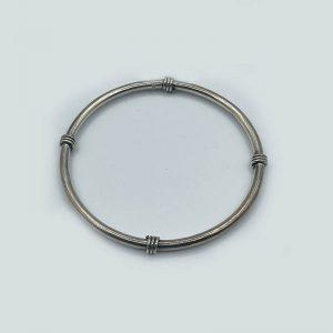 SIlver Bangle Bracelet with Knots
