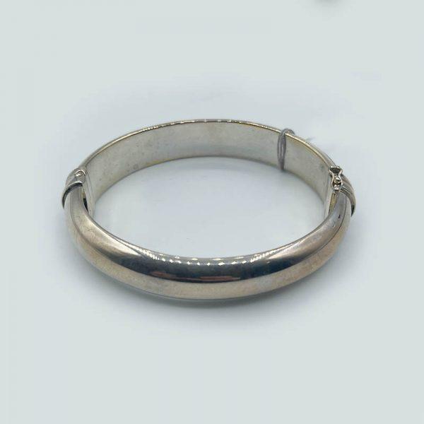 Silver Smooth Bangle Bracelet