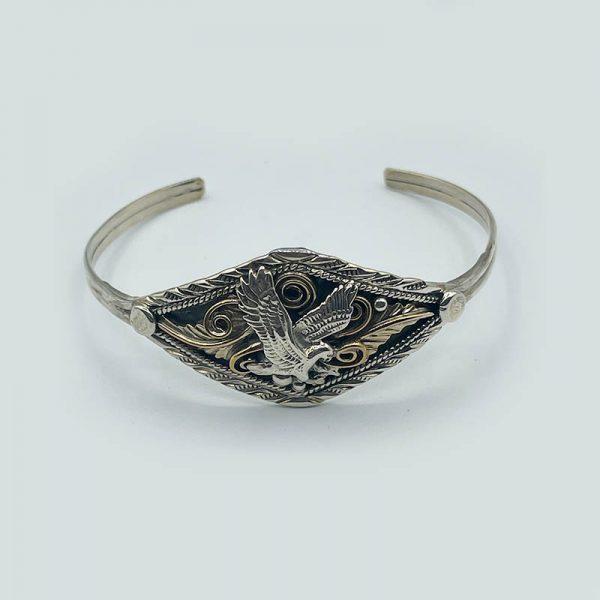 Silver and Brass Eagle Bracelet