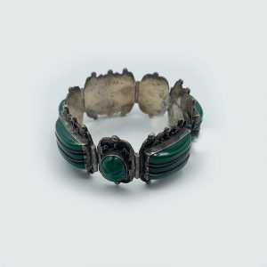 Sterling Bracelet with Green Onyx