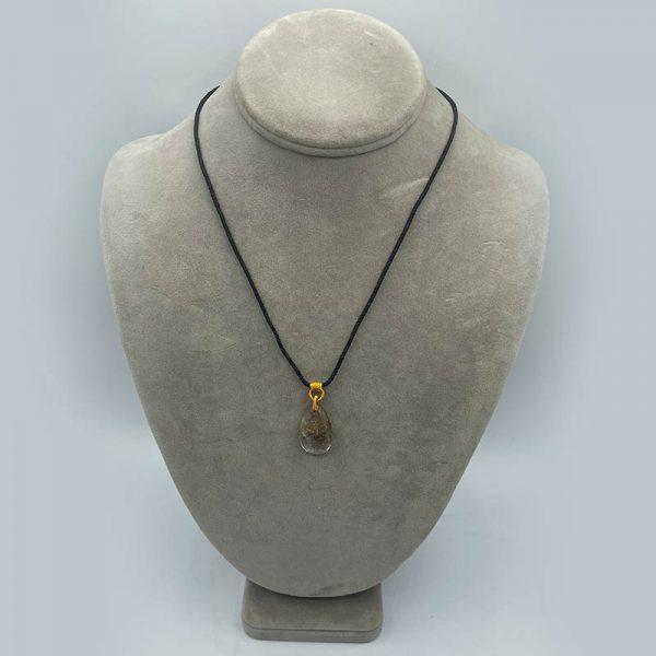 Teardrop Necklace - rutilated quartz