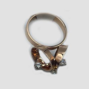 Teeter Totter 14k Gold Ring