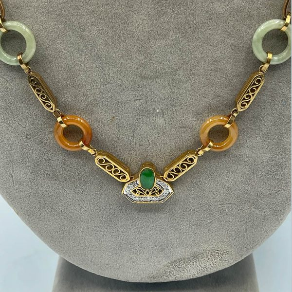 Vintage French Midcentury Necklace-1
